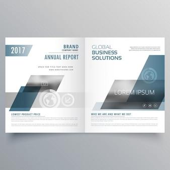 Affaires de l'entreprise page couverture brochure bifold design templare