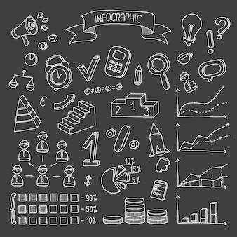Affaires et finances éléments de conception dessinés à la main