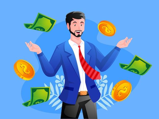 Les affaires font beaucoup d'argent et de profit