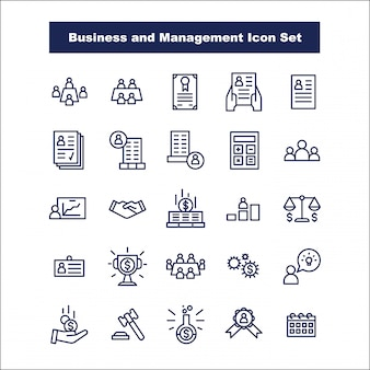Affaires et gestion icon set vector