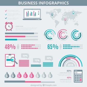 Affaires infographic sur un fond gris