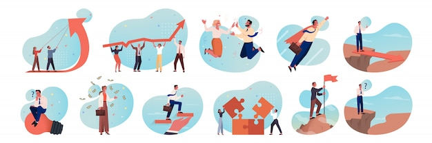 Affaires, motivation, travail d'équipe, carrière, succès, concept de remue-méninges