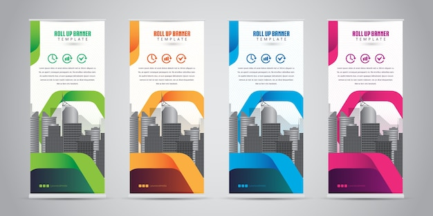 Affaires roll up banner standee design