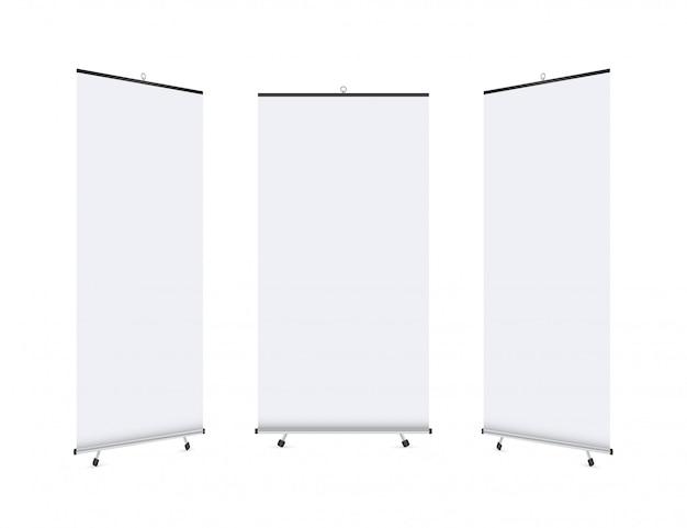 Affichage de bannière roll-up vierge. roll up banner stand