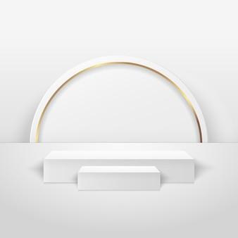 Affichage de la boîte abstraite pour le produit. scène minimale avec des formes géométriques. boîte podium