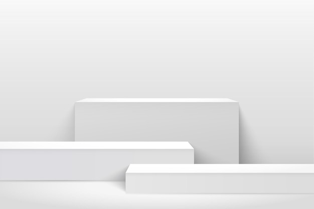 Affichage de cube abstrait pour la présentation du produit