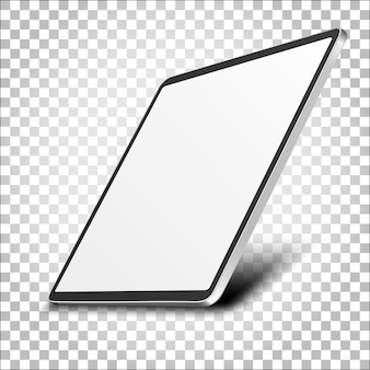 Affichage du moniteur d'ordinateur avec écran blanc isolé sur fond transparent. vue de face.