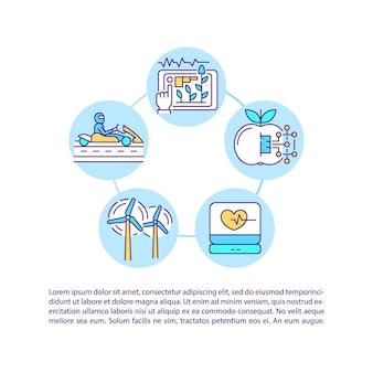 Affichage de l'icône de concept de formes visuelles de données avec texte. modèle de page ppt. interaction client à plusieurs niveaux. brochure, magazine, élément de conception de livret avec illustrations linéaires