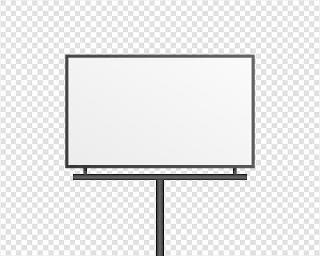 Affichage de panneau d'affichage vide. panneau de support de publicité extérieure. isolé. conception de modèle. illustration réaliste.