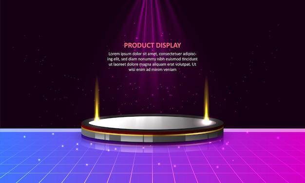Affichage de produit de podium de cylindre en arrière-plan coloré