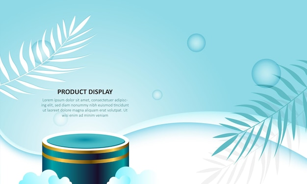 Affichage de produit de podium de cylindre sur fond vert