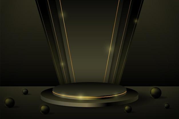 Affichage de produits de podium noir 3d pour la campagne de bannières du vendredi noir