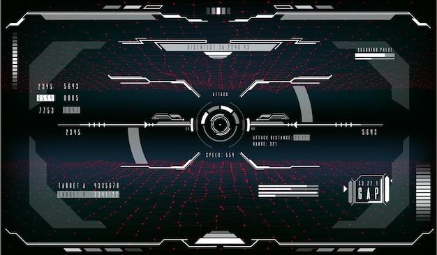 Affichage de vecteur futuriste hud de contrôle de visée cible