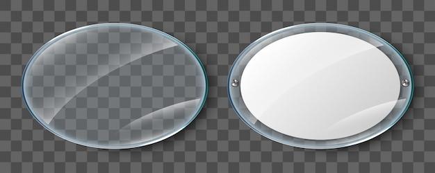 Affichage en verre. affiche vierge dans un cadre en verre réaliste isolé sur fond transparent. affiche acrylique murale transparente