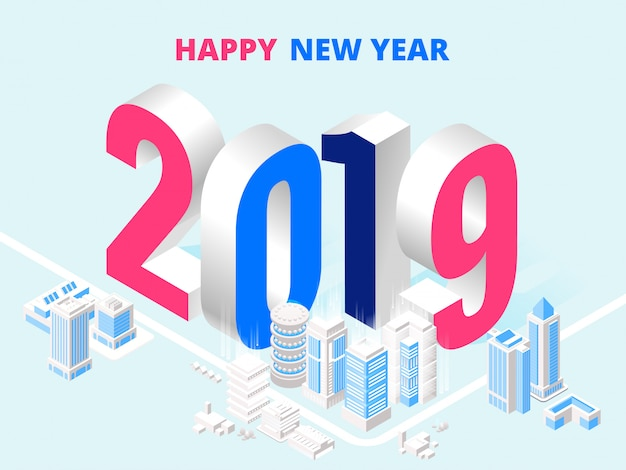 Affiche 2019 happy new year