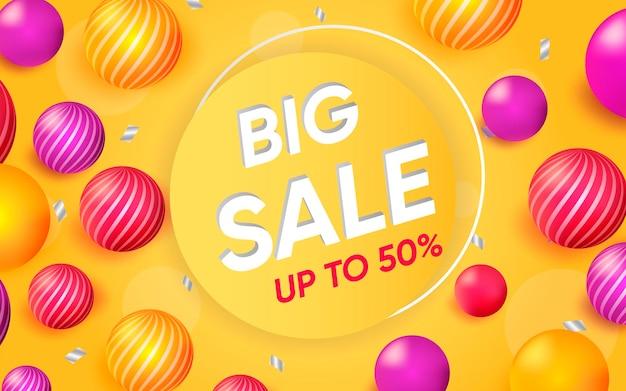 Affiche 3d de la grande vente illustration de la publicité