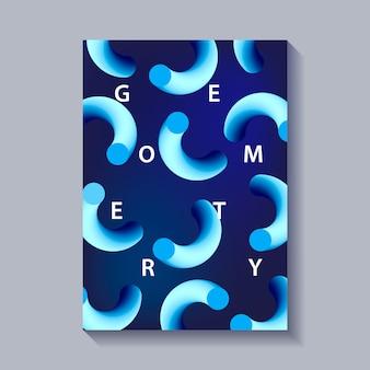 Affiche d'abstraction de style branché moderne.