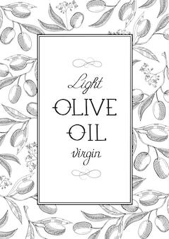 Affiche abstraite d'huile d'olive légère