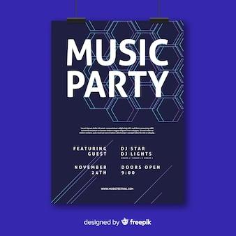 Affiche abstraite de musique électronique