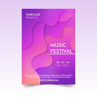Affiche abstraite de musique fluide
