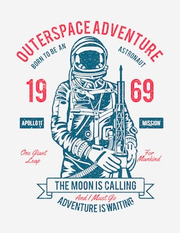 Affiche adventure outerspace