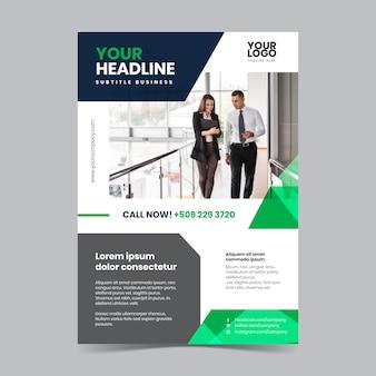 Affiche d'affaires abstraite avec photo