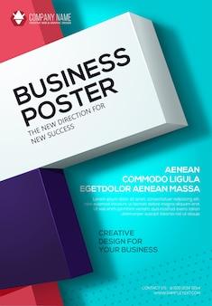 Affiche d'affaires de vecteur. modèle de dépliant. affiche pour votre entreprise. présentation de la couverture