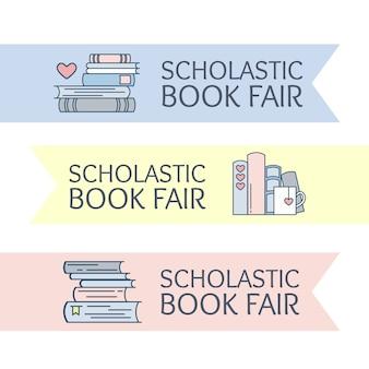 Affiche d'annonce de salon du livre