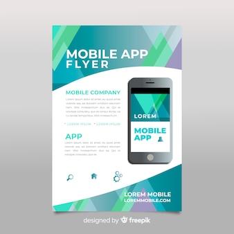Affiche de l'application mobile plat