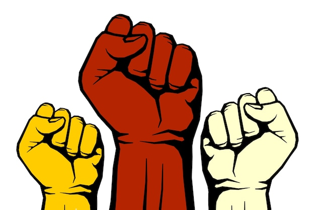 Affiche d'art de révolution de vecteur rebelle
