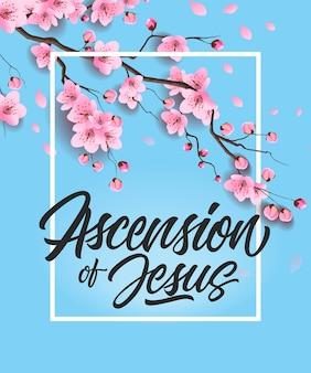 Affiche de l'ascension de jésus avec cherry tree