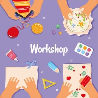 Affiche de l'atelier avec les mains