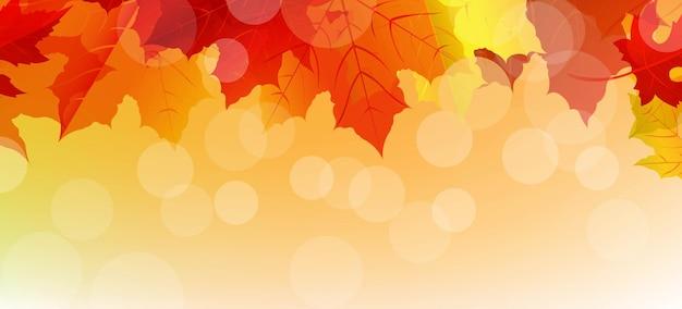 Affiche d'automne de vente avec des feuilles
