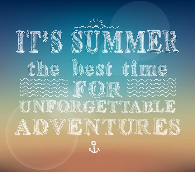 Affiche d'aventures d'été
