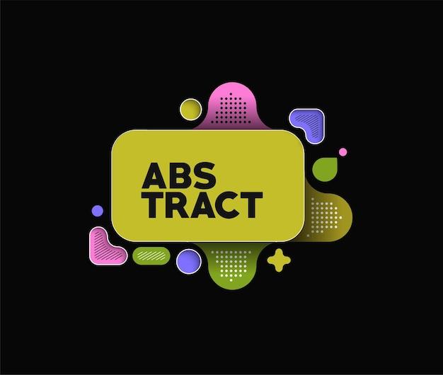 Affiche bannière abstraite avec espace de votre texte, illustration vectorielle formes de conception.