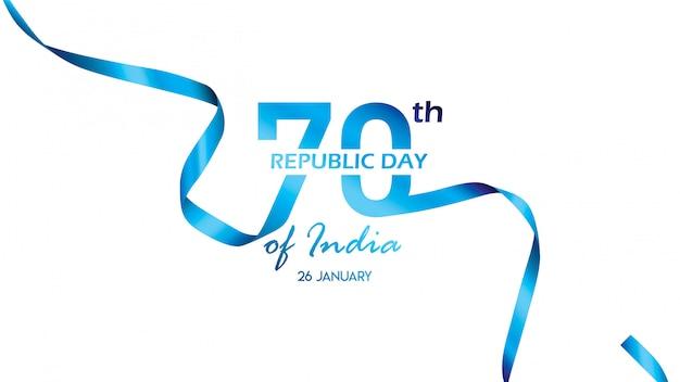 Affiche, bannière ou flyer créative pour la fête de la république de l'inde