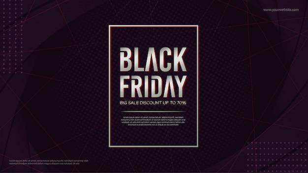 Affiche ou bannière de vendredi noir
