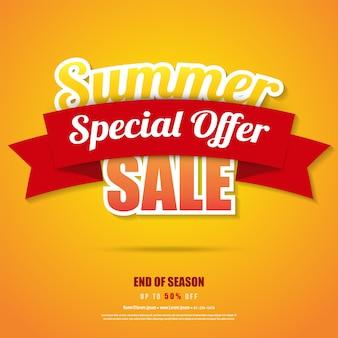 Affiche bannière de vente d'été