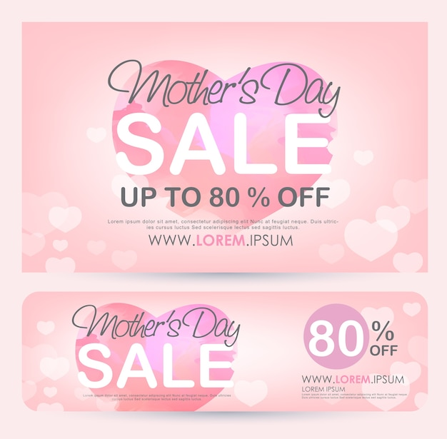 Affiche de bannière de vente de fête des mères.