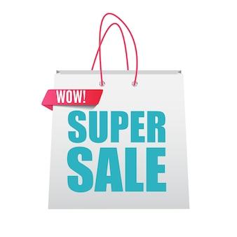 Affiche de bannière de vente super. illustration vectorielle