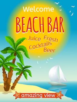 Affiche de bar de plage