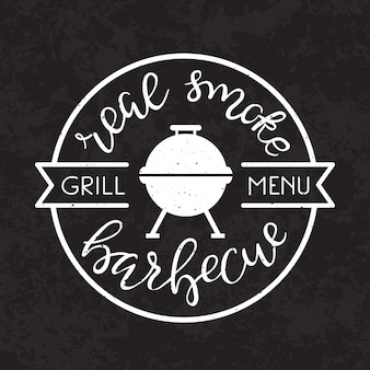 Affiche de barbecue de barbecue.