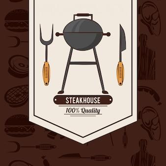 Affiche de barbecue steakhouse