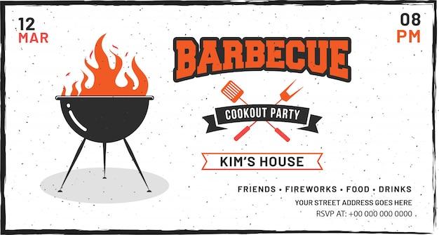 Affiche de barbecue