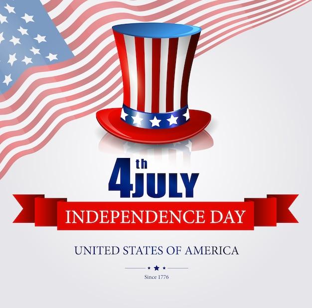 Affiche de bienvenue du jour de l'indépendance des états-unis