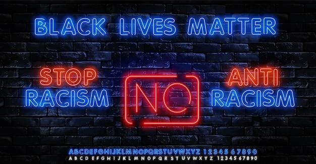 Affiche black lives matter pour mettre fin au racisme et soutenir la manifestation de protestation de la société