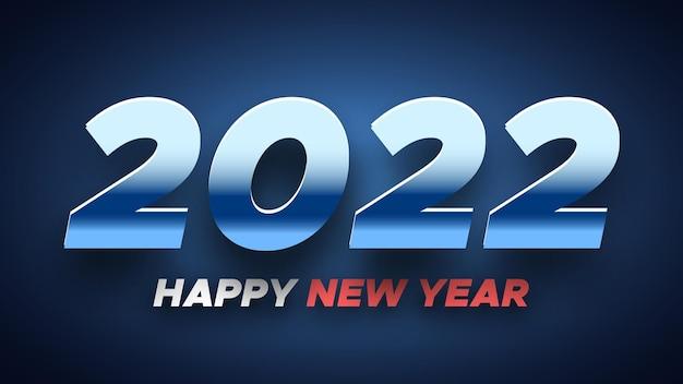 Affiche bleue de bonne année. conception de cartes de voeux.