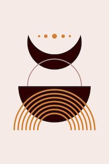 Affiche boho abstraite
