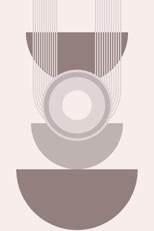 Affiche boho minimaliste ou t-shirt imprimé motif de fond