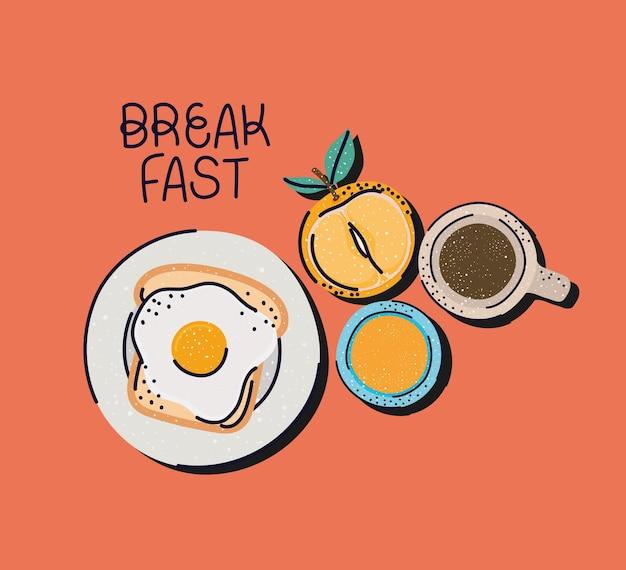 Affiche de bon petit déjeuner